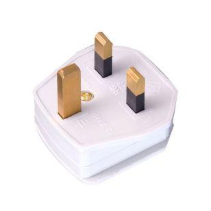 White Rubber 13A Plug