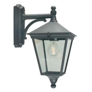 Norlys Turin Outdoor Hanging Lantern Wall Light - Black