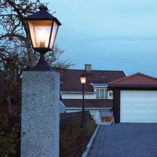 Norlys Turin Grande Outdoor Pedestal Light - Verdigris
