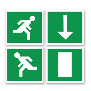 Self Adhesive Emergency Sign Set