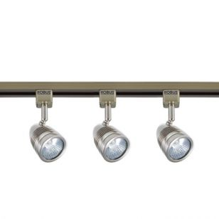 Robus Acorn 1 Circuit Track Light Kit - Satin Chrome - 3 Lights