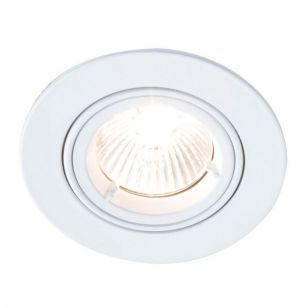 Robus Fire Rated Adjustable Downlight - White