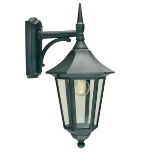 Norlys Valencia Outdoor Hanging Lantern Wall Light - Black