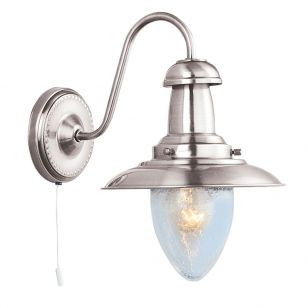 Utility Wall Light - Satin Silver
