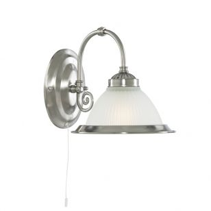 Scroll Wall Light - Satin Silver