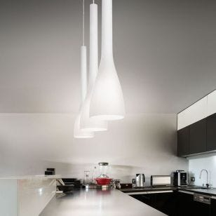 Flut Ceiling Pendant Light - White