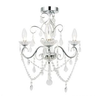 Vela 3 Arm Semi Flush Light