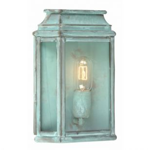 Elstead St Martins Half Lantern Outdoor Wall Light - Verdigris