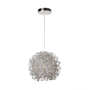 Lucide Noon Ceiling Pendant Light - Satin Chrome
