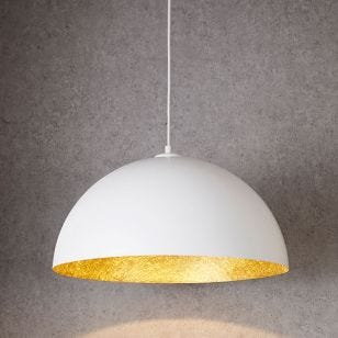 Edit Rondure Ceiling Pendant Light - 500mm White and Gold