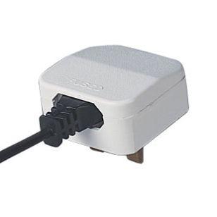 Europe to UK Plug Adaptor - White