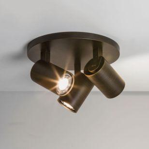 Astro Ascoli 3 Light Plate Spotlight - Bronze