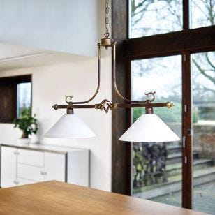 Edit Cora 2 Light Bar Ceiling Pendant - Bronze