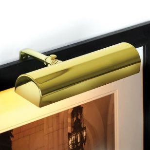 Ultimate LED Small Battery Operated Picture Light - Polished Brass