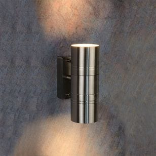 Lucide Arne LED Outdoor Up & Down Wall Light - Satin Chrome