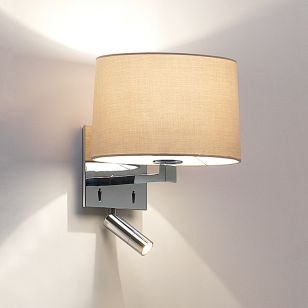 Astro Azumi Wall Light with LED Reading Light - Light Only