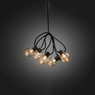 Konstsmide 14.75M LED Clear Round Festoon Lights - 20 Lights