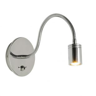 Edit Simple LED Reading Light - Polished Stainless Steel