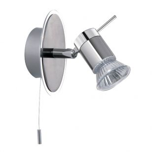 Spot LED Single Spotlight - Satin Silver