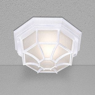 Pane Outdoor Flush Ceiling Light - White
