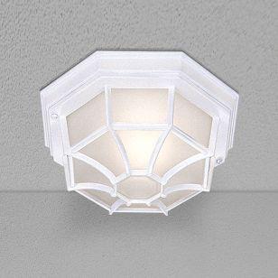 Pane Outdoor Flush Ceiling Light - White