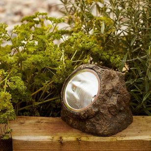 Solar LED Rock Spotlight - Sand