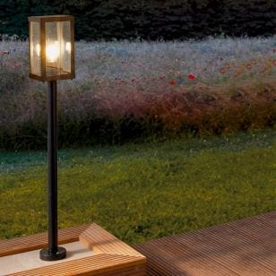 Eglo Alamonte Outdoor Post Light - Black
