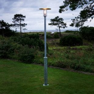 Konstsmide Raw Lamp Post - Galvanised Steel