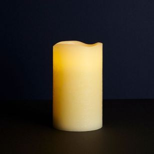 Sirius Tenna Battery Operated LED Almond Wax Candle - 125mm