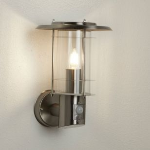 Searchlight Outdoor Wall Light with PIR Sensor - Stainless Steel