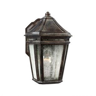 Feiss London Towne Outdoor Wall Light -  Weathered Chestnut