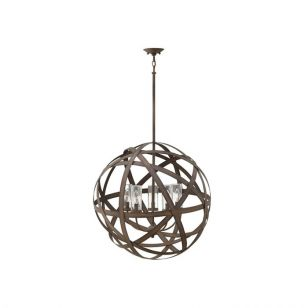 Hinkley Carson 5 Light Outdoor Chandelier - Vintage Iron