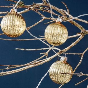 Solo Glass Bauble Battery Operated LED String Lights - 10 Lights