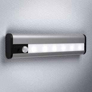LEDVance Linear LED Battery Operated Under Cabinet Light with USB and PIR Sensor  - 200mm - Silver