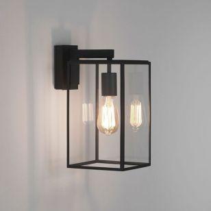 Astro Box 350 Outdoor Hanging Lantern Wall Light - Black