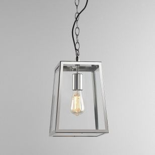 Astro Calvi 305 Pendant Porch Lantern - Polished Nickel