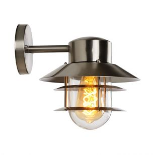 Lucide Zico Outdoor Wall Light - Satin Chrome