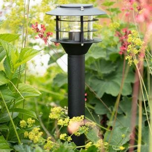 Garden 24V LED Lantern Post Light - Black