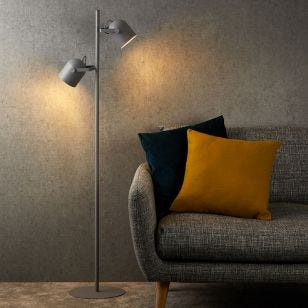 Edit Spectra 2 Light Floor Lamp - Grey