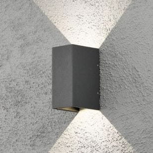 Konstsmide Cremona LED Outdoor Up & Down Wall Light - Anthracite