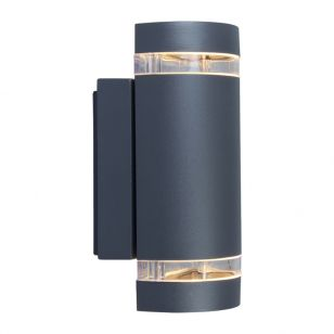 Lutec Focus Outdoor Up & Down Wall Light - Dark Grey