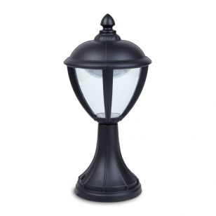 Lutec Unite LED Outdoor Pedestal Light - Black