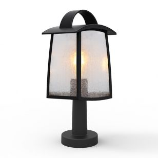 Lutec Kelsey Outdoor Pedestal Light - Black