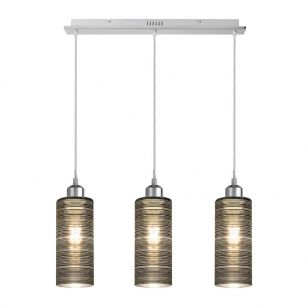 Edit Vera 3 Light Bar Ceiling Pendant - Chrome
