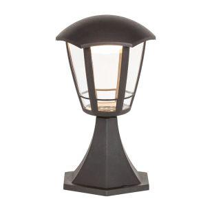 Edit Sorrento LED Outdoor Pedestal Light - Matt Black