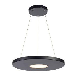 Plate LED Ceiling Pendant Light - Black