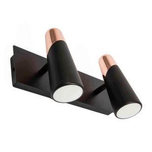 Faro Barcelona Lao LED Twin Reading Light - Black & Copper