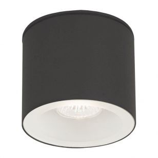 Edit Hexa Outdoor Flush Ceiling Light - Black