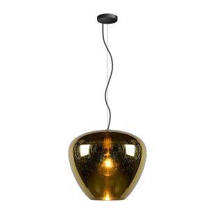 Lucide Soufian Glass Ceiling Pendant Light - Brass