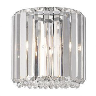 Edit Trinity Flush Wall Light - Crystal